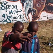 Spray Art for Township Soweto, joburg South Africa