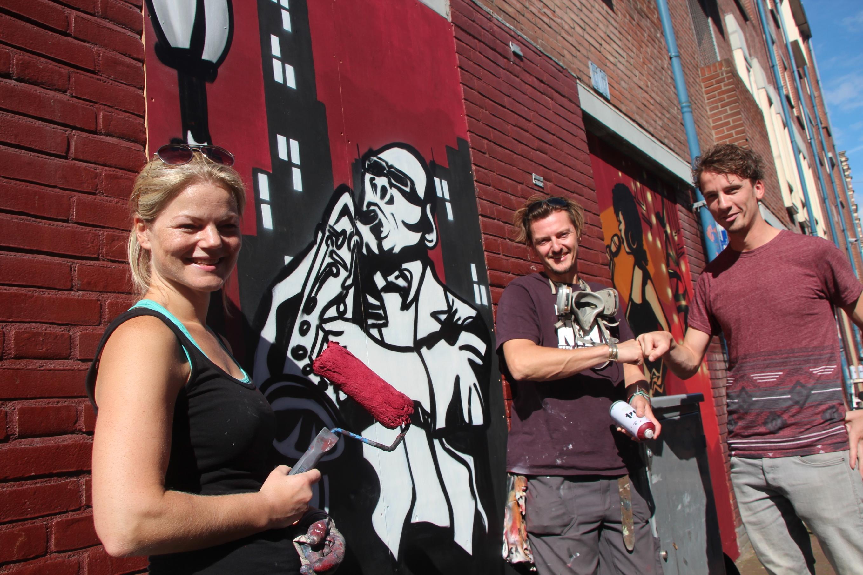HRLM Jazz, Smedestraat Graffiti mural