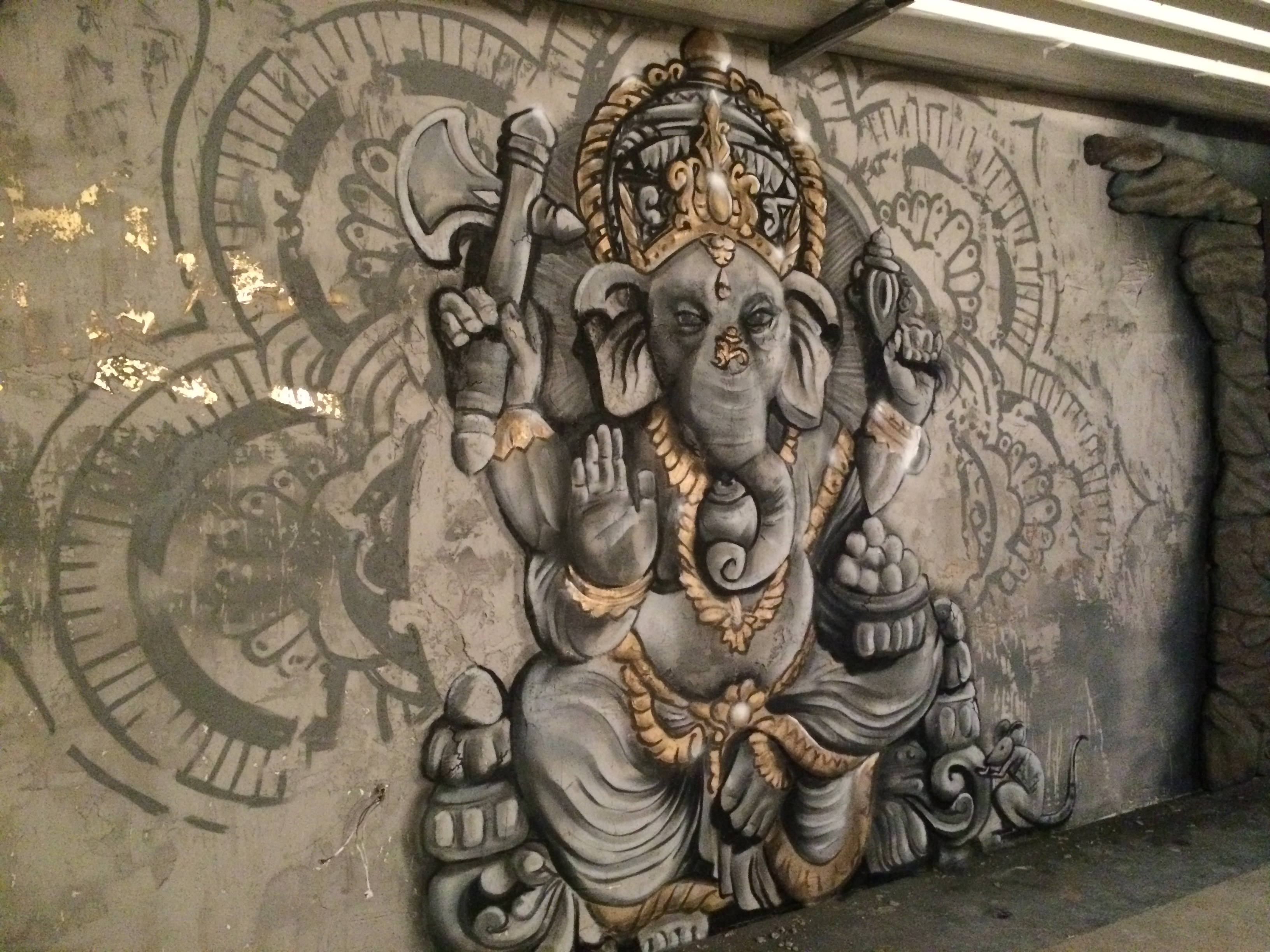 3D mural Ganesha | YOGA Full of Life